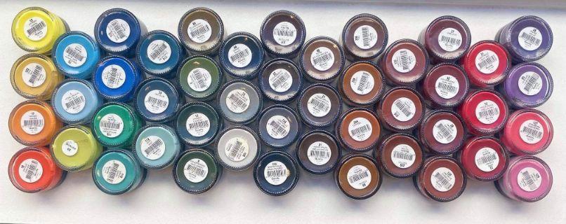 Meer dan 100 verschillende kleuren schoencrème